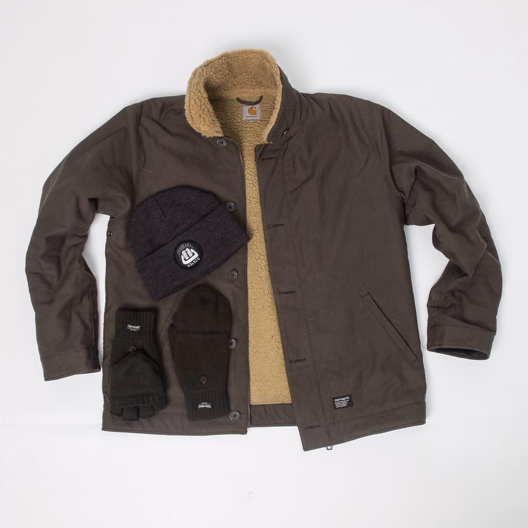 "Time to get some warm and comfy stuff. Bailgun's favorites are the #Carhartt Sheffield jacket and the great #Koloss ""Prost"" beanie, add some gloves and your all set for the cold days to come. #carharttwip #Blackheaven #Bailgun"