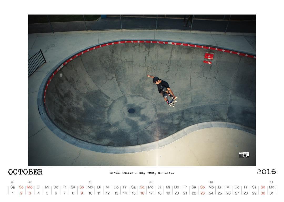 Daniel Cuervo FSA, YMCA Skatepark, Encinitas,CA, Bailgun calendar October 2016 #Bailgun #bowl #pool #skateboarding @danielcuervoskate