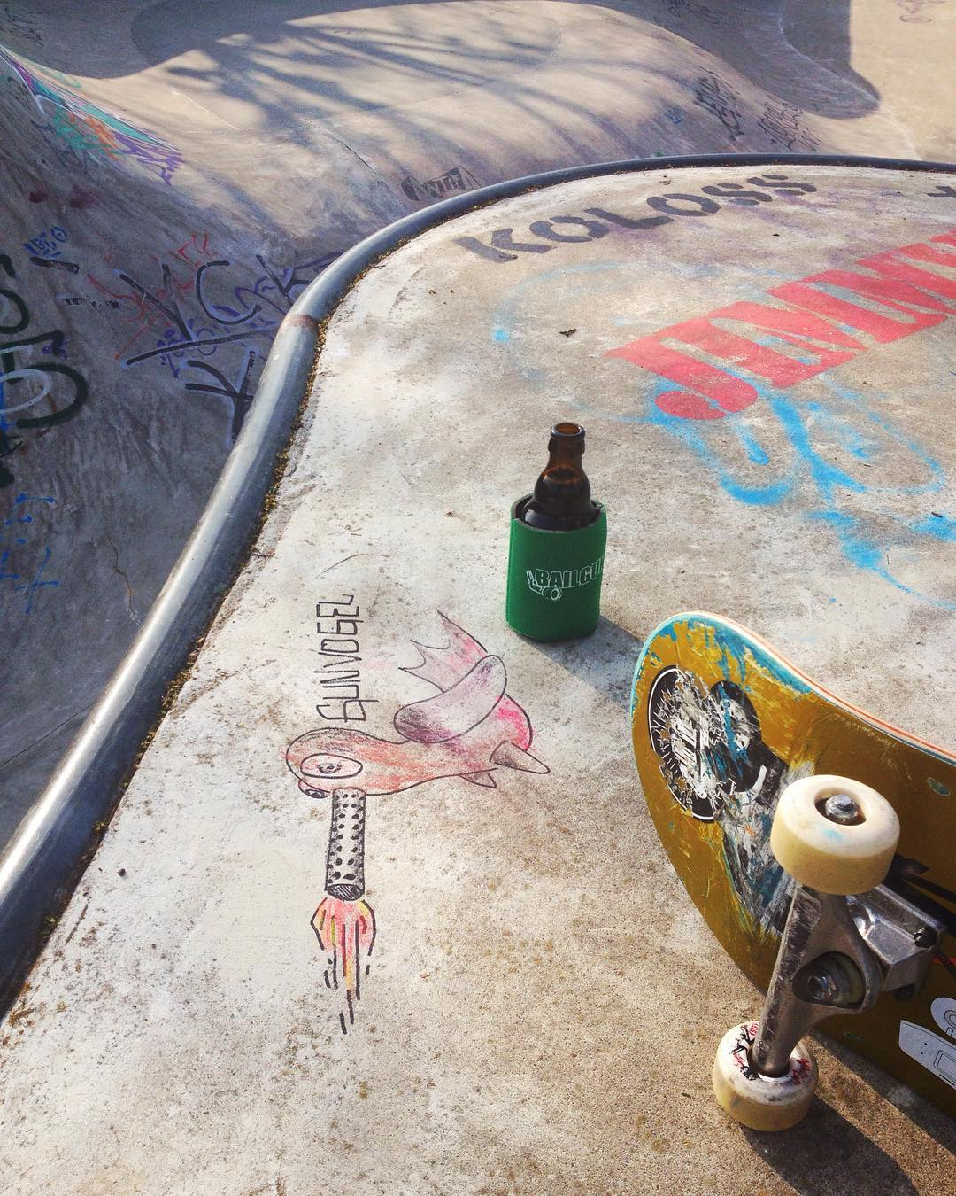 Session with the #gunvogel at the Berg today. #bailgun #bergfidel #skateboarding #pool #bowl