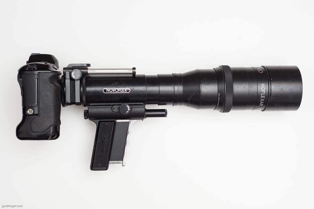 Novoflex 5.6/400mm Schnellschussobjektiv/Fastfocus lens. Gonna be fun shooting this baby. #bailgun #novoflex #schnellschussobjektiv #fastfocus #400mm #f5,6