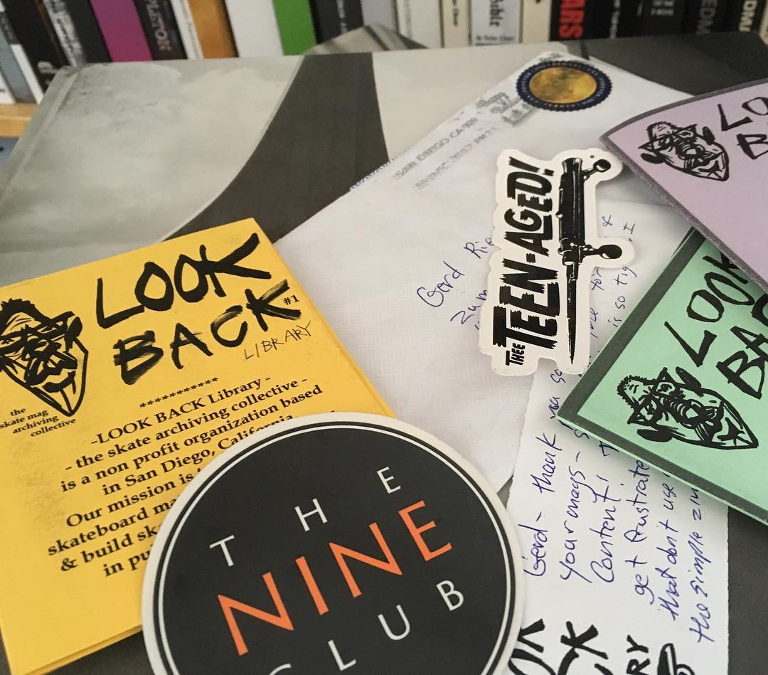 Thanks Kevin from @lookbacklibrary for sending some Lookback Library zines and stickers. Love to get some real mail 😀 with cool stuff. #zines #print #lookbacklibrary #thenineclub #bailgun