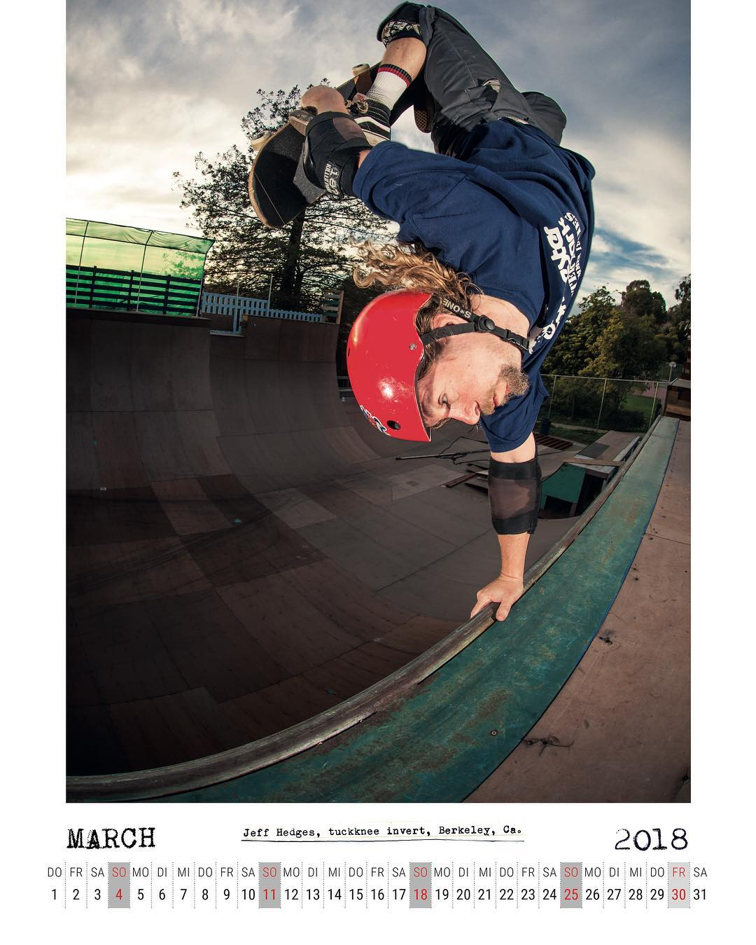 March 1st, time to get your Bailgun calendar spread with Jeff Hedges fully flapping a tuckknee invert like it's 1988. Yeah! High Res Download at Bailgun.com #skateboarding #vert #halfpipe #ramp #verkeley #ffej #handplant #invert #bailgun #magazine #calendar #gerdriegerphotography