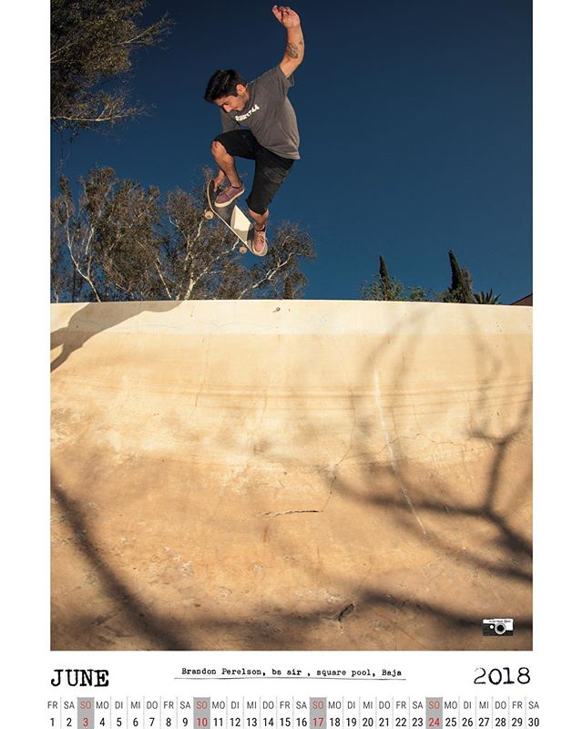 June calendar spread ready for download now.  Brandon Perelson, BSA in a Baja backyardpool.  High Res version over here: www.bailgun.com/media/calendar  #skateboarding #pool #bowl #concrete #baja #backyardpool #brandonperelson #bailgun #magazine #gerdriegerphotography