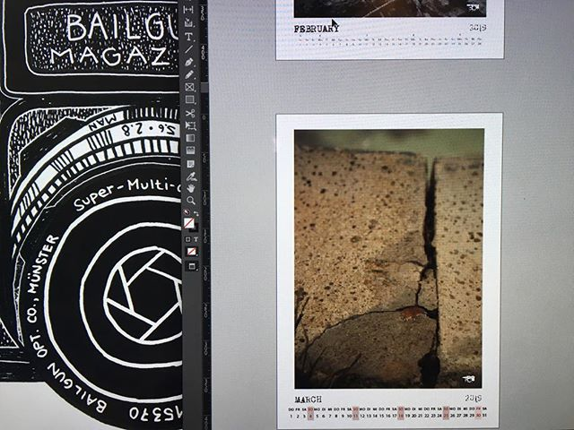Bailgun Pocket Notebook Calendar 2019 in the works. #bailgun #magazine  #calendar #kalender #notebook