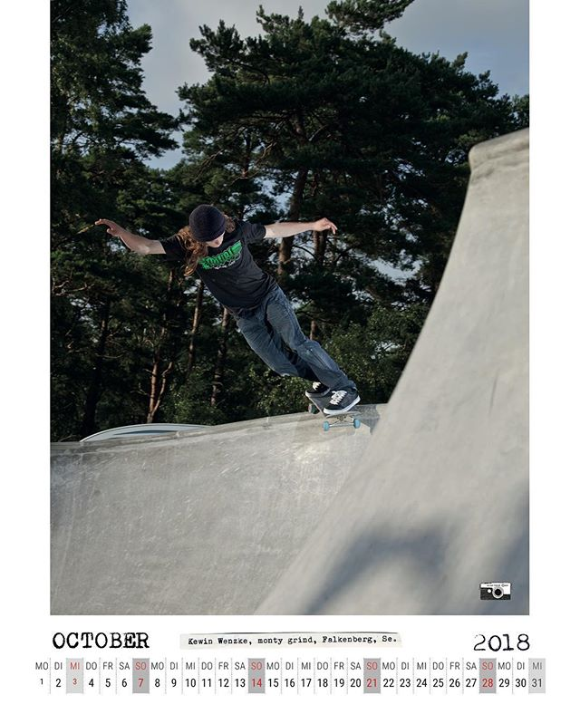 Kevin Wenzke, Monty Grind, Falkenberg, SE. Bailgun calendar spread, Oktober 2018. #skateboarding #bowl #pool #concrete #Falkenberg #montygrind #kevinwenzke #bailgun #magazine #gerdriegerphotography