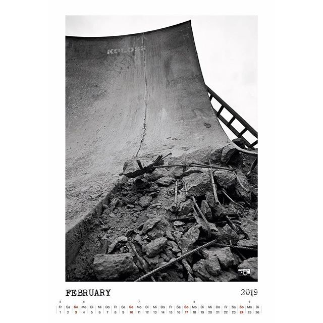 Bailgun calendar page February 2019. We still got a few. Get yours at @blackheaven_skateshop or DM. #calendar #kalender #february #print #bailgun #magazine #gerdriegerphotography