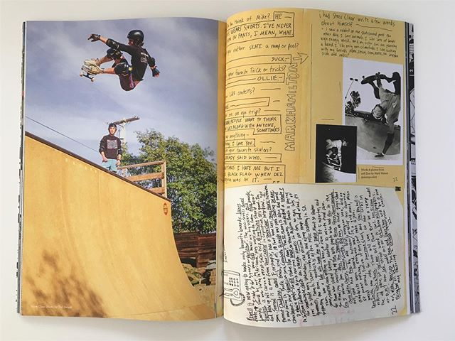 Got the Same Old Mag in the mail the other day. One of my favorite pages from issue 408, with Steve Claar!!! But there's way more rad shit in this issue, so do yourself a favor and get one. @same0ld #print #magazine #sameold #steveclaar #ollie